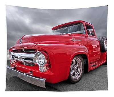 Red F-100 Tapestry