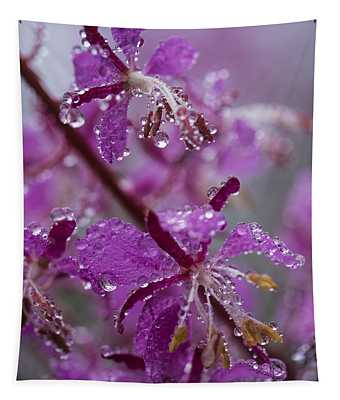 Red Fireweed Tapestry