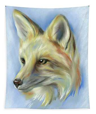 Red Fox Portrait Tapestry