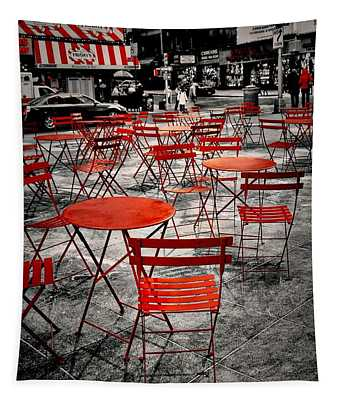 Red In My World - New York City Tapestry