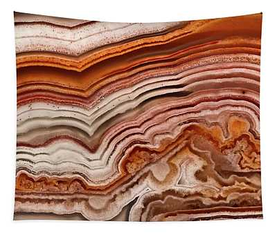 Red Laguna Lace Agate Tapestry