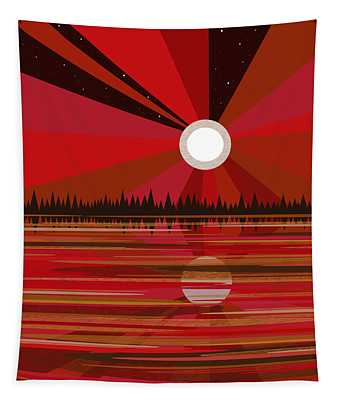 Red Moonshine Tapestry