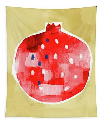Red Pomegranate- Art By Linda Woods Tapestry