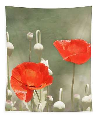 Tapestry featuring the photograph Red Poppies by Kim Hojnacki