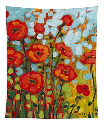 Red Poppy Field Tapestry