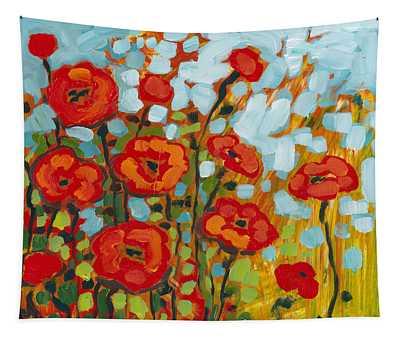Red Poppy Field Tapestry
