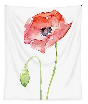 Red Poppy Tapestry