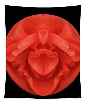 Red Rose Sphere Tapestry
