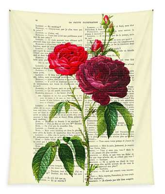 Red Roses For Valentine Tapestry