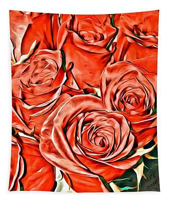Red Roses Tapestry