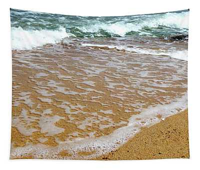 Red Sea Meets The Beautiful Sandy Beach 2 Tapestry
