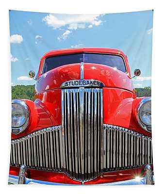 Red Studebaker Tapestry