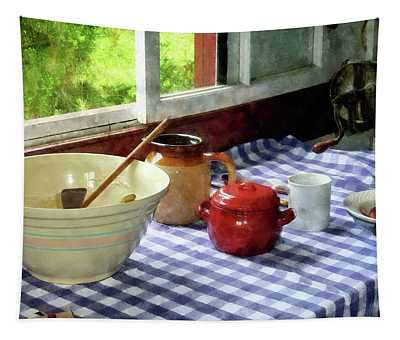 Red Sugar Bowl Tapestry