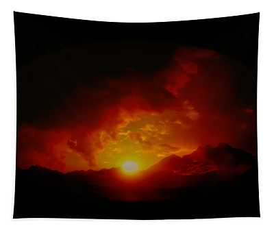 Red Sunset In Africa Tapestry