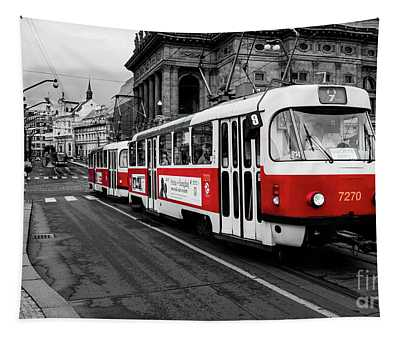Prague - Red Tram Tapestry