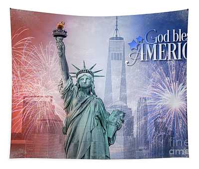 Red, White And Blue Tapestry