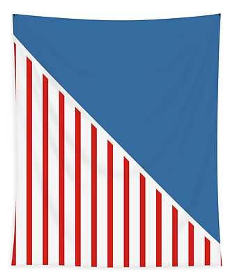 Red White And Blue Triangles Tapestry