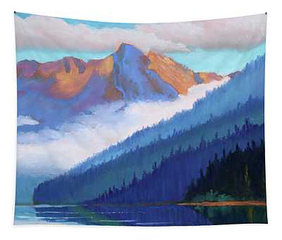 Redfish Lake - Low Clouds Tapestry