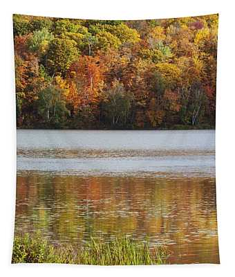 Reflection Of Autumn Colors In A Lake Tapestry