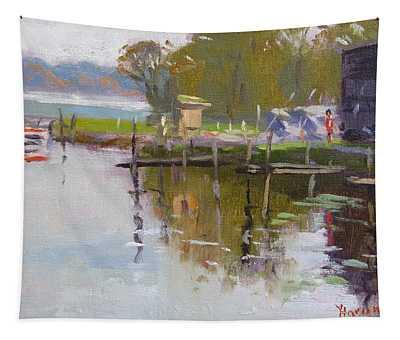 Reflections At Ashville Bay Marina Tapestry