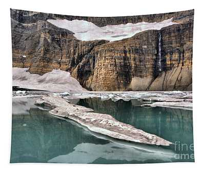 Reflections Of Grinnell Glacier Tapestry