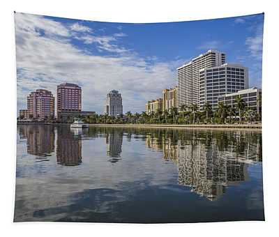 Reflections Of West Palm Beach Tapestry