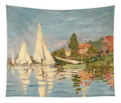 Regatta At Argenteuil Tapestry