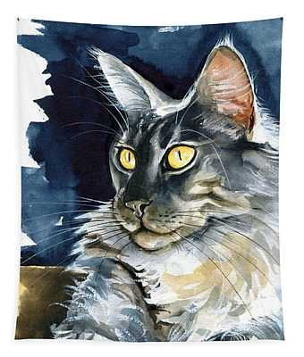 Regina - Maine Coon Painting Tapestry
