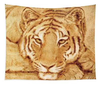 Resting Tiger Tapestry
