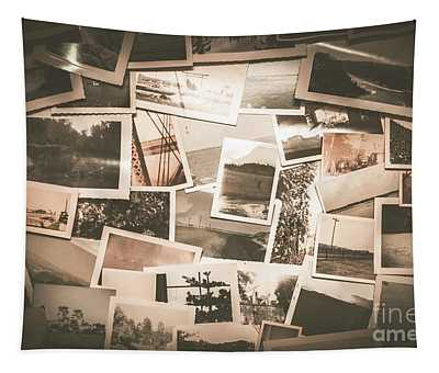Retro Photo Album Background Tapestry