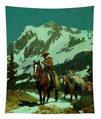 Return From The Hunt Tapestry
