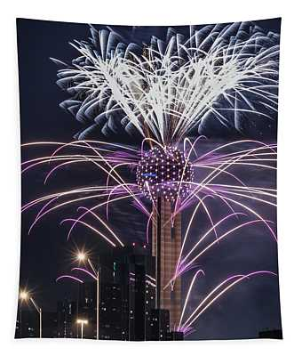 Reunion Tower Fireworks Tapestry