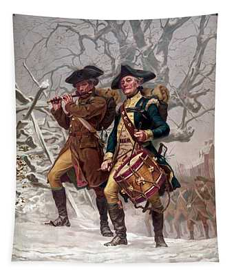 Revolutionary War Soldiers Marching Tapestry
