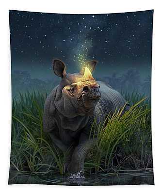 Rhinoceros Unicornis Tapestry