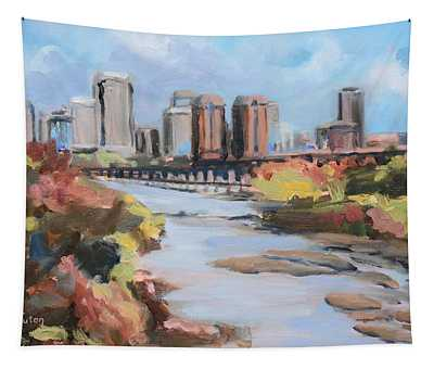 Richmond Virginia Skyline In Autumn Tapestry