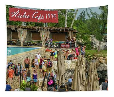 Rick's Cafe In Negril, Jamaica Tapestry