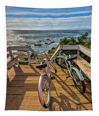 Ride With Me To The Beach Tapestry