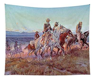 Riders Of The Open Range Tapestry