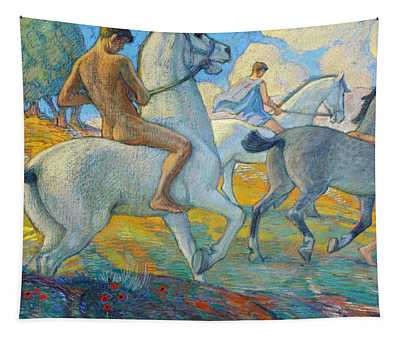 Riders On The South Coast Tapestry