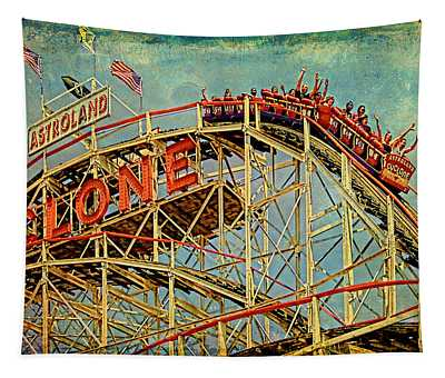 Riding The Cyclone Tapestry