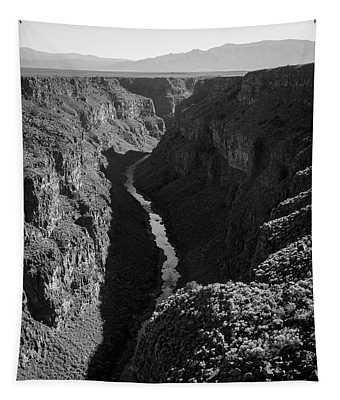 Rio Grande Gorge I Bw Tapestry