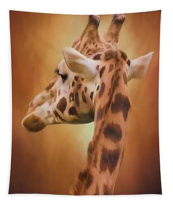 Rising Above - Giraffe Art Tapestry