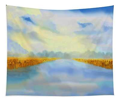 River Blue Tapestry