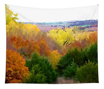 Tapestry featuring the digital art River Bottom In Autumn by Shelli Fitzpatrick