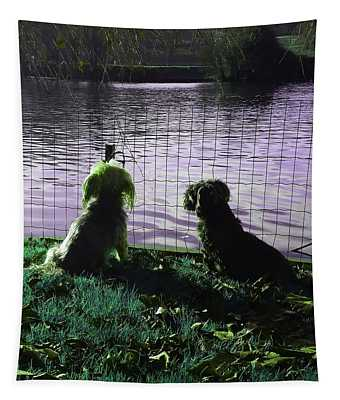 River Gazing In Emerald Green Tapestry