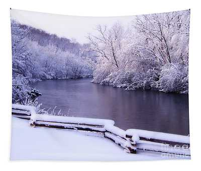 River In Winter Tapestry