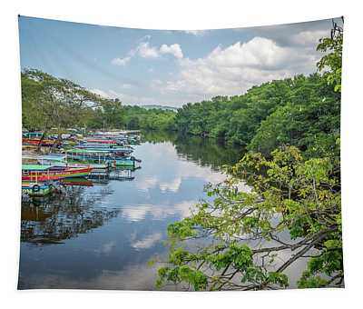 River Views In Negril, Jamaica Tapestry