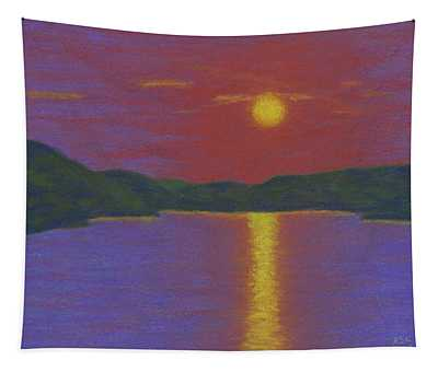 Riverboat Sunset Tapestry