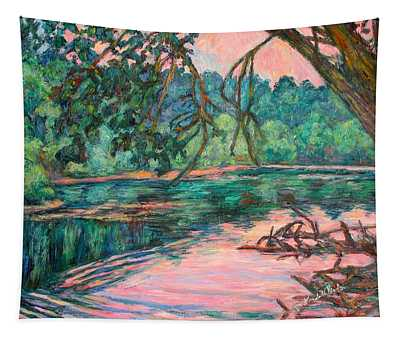 Riverview At Dusk Tapestry