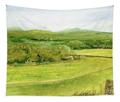 Road Through Vermont Field Tapestry